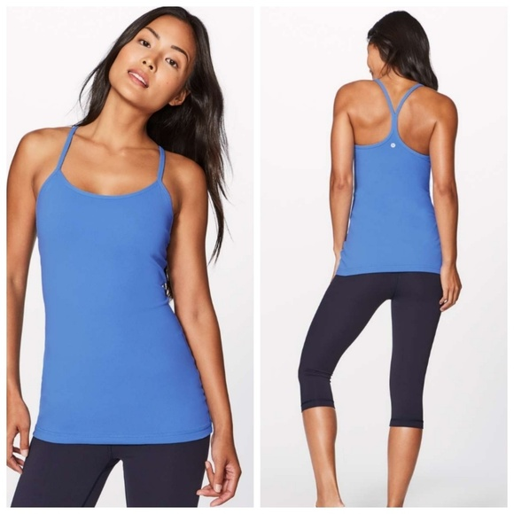 ed65550d56614 lululemon athletica Tops - Lululemon Power Y Tank Pool Party